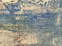 Texture of abstract art background blue color. Abstract art backgrounds blue and white colors. Multicolor oil painting on canvas. Fragment of artwork. Texture Royalty Free Stock Images