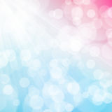 A texture, abstract background is colorful bokeh light from sun Stock Image