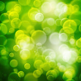 A texture, abstract background is colorful bokeh light from sun Stock Images