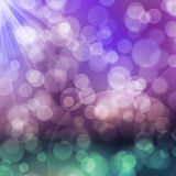 A texture, abstract background is colorful bokeh light from sun Stock Photos