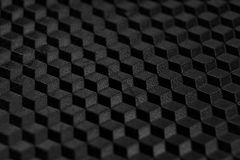 Texture of abstract black geometric grid. For background. Macro photo stock image