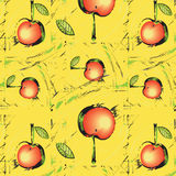 Texture with abstract red apples Stock Photo