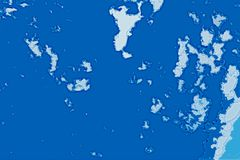 Texture abstraite blanche et bleue de fond Carte d'imagination avec le rivage du nord, mer, océan, glace, montagnes, nuages images stock