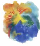 Texture abstraite colorée d'aquarelle Image stock