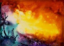 Texture abstraite colorée de peinture Photos stock