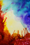 Texture abstraite colorée de peinture Photos libres de droits