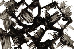 Texture abstraite Courses à l'encre noire Image libre de droits