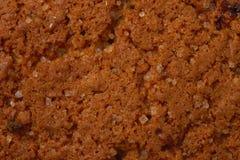 Texture abstraite de macro de biscuit de puce de farine d'avoine Images libres de droits
