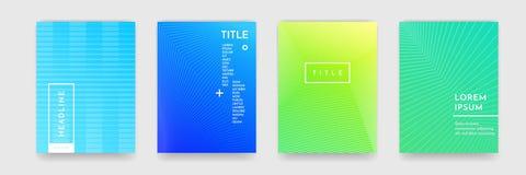 Texture abstraite de modèle de couleur de gradient pour l'ensemble de vecteur de calibre de couverture de livre illustration libre de droits