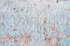 Texture abstraite du vieux mur bleu mur usé de vintage avec des taches de la peinture blanche Fond minable wallpaper photo stock