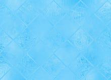 Texture abstraite en verre gelée d'hiver de tache floue Photographie stock