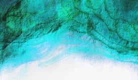 Texture abstraite vert-bleu de fond Images libres de droits