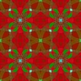 Texture abstraite verte rouge Modèle d'impression de textile de rubans de Noël Tuile sans couture carrée Illustration simple de f Photo libre de droits