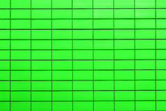 Texture of acid green tiles in form of brick Royalty Free Stock Photos