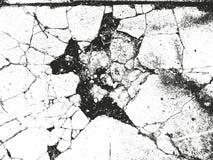 Texture affligée de recouvrement de béton criqué Photos stock