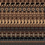 Texture with African ornaments and symbols Stock Photography