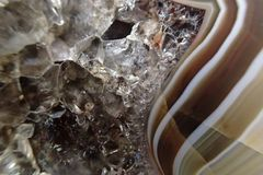 texture of agate mineral Stock Image