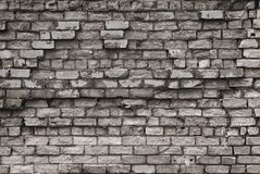 Texture of aged brick wall with cracked weathered structure white gray color close-up. Texture of brick wall with cracked weathered structure white gray color royalty free stock photo