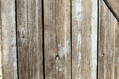 Texture of old gray wooden fence panels. Rustic background. Stock Images