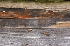 Texture of aged wooden horizontal boards Stock Photos