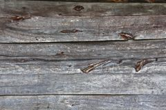 Texture of aged wooden horizontal boards Royalty Free Stock Image