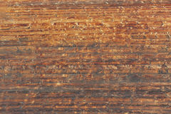 Texture of and aged wooden wall of the typical Swiss chalet in Zermatt, Switzerland. Royalty Free Stock Photo