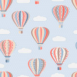 Texture with air balloons. Vector seamless texture with air balloons Stock Photos