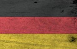 Texture allemande grunge de drapeau, la couleur rouge et jaune noire illustration libre de droits