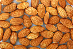 Texture of almonds Stock Images
