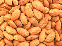 The texture of the almonds. Royalty Free Stock Image