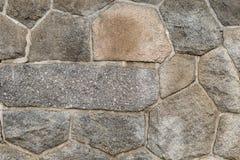 Texture a alvenaria do fundo da pedra áspera do retângulo diferente das formas fotografia de stock royalty free