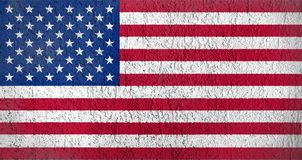 Texture of the American flag stock image