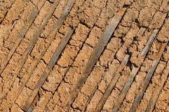 Texture of ancient clay masonry walls Royalty Free Stock Images