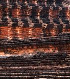 Texture of Ancient pagoda in Wat Phra Kaeo, Thaila Royalty Free Stock Photography