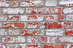The texture of the ancient red brick wall Stock Photography