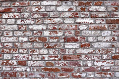 The texture of the ancient red brick wall Royalty Free Stock Photography