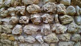 Texture of ancient stone wall royalty free stock photo