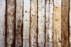 Ancient wood with cracked paint of white color Royalty Free Stock Photography