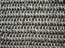Texture of antique chain mail Stock Photo