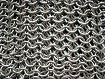 Texture of antique chain mail Stock Photography