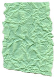 Aqua Green Fiber Paper - Crumpled with Torn Edges Royalty Free Stock Images