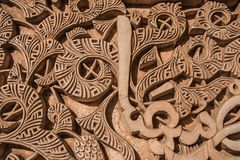 Texture of Arabic engravings on the wall. Of a temple Royalty Free Stock Photos