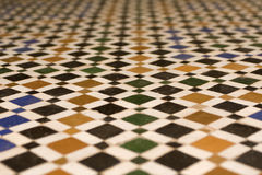 Texture of a Arabic floor. In Marrakech, Morocco Royalty Free Stock Photos
