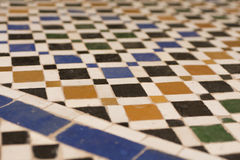 Texture of a Arabic floor. In Marrakech, Morocco Royalty Free Stock Images