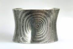 Texture argentée de bracelet Photographie stock libre de droits