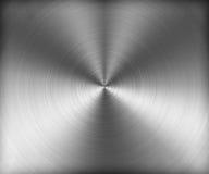 Texture argentée de Bursh de délié en métal Images libres de droits