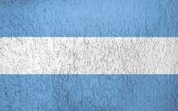 Texture of Argentina flag. The texture of Argentina flag of Russia on the wall of plaster Royalty Free Stock Photos