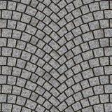 Texture arquée 012 de trottoir de pavé rond illustration stock
