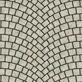 Texture arquée 020 de trottoir de pavé rond illustration de vecteur