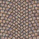 Texture arquée 043 de trottoir de pavé rond Photographie stock